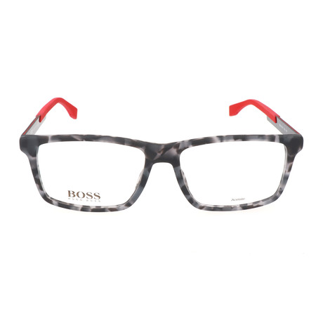 Men's 0754F-KDA Optical Frames // Gray Havana + Carbon Red
