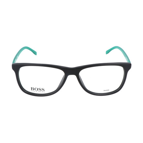 Men's 763-RJR Optical Frames // Matte Black + Metalized Green
