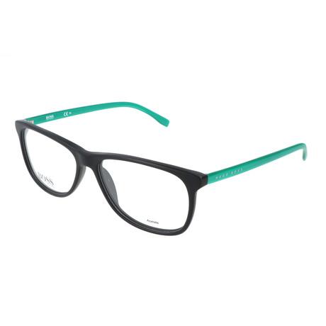 Men's 763-RJR Optical Frames // Matte Black + Metalized Green