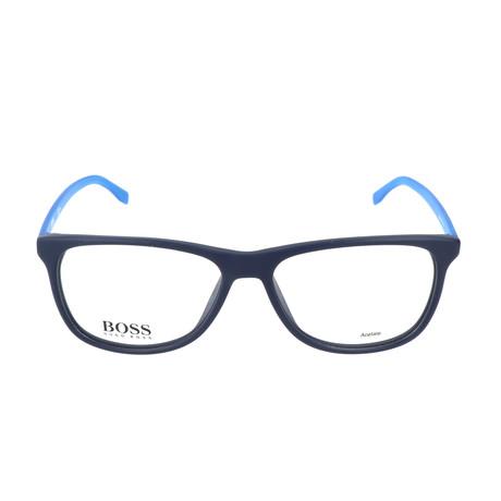 Men's 763-RLV Optical Frames // Matte Blue + Metalized Blue