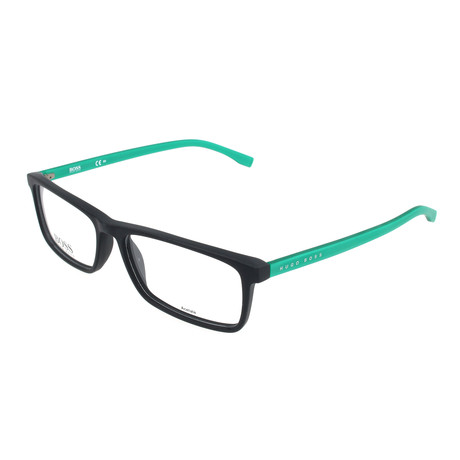 Men's 765-RJR Optical Frames // Matte Black + Metalized Green