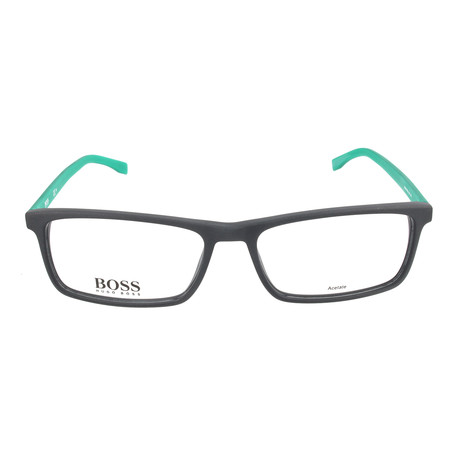 Men's 765-RJR Optical Frames // Matte Black + Metalized Green