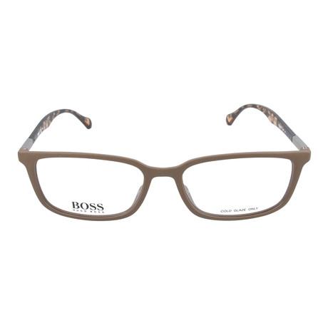 Men's 827-YWP Optical Frames // Brown + Brown Havana