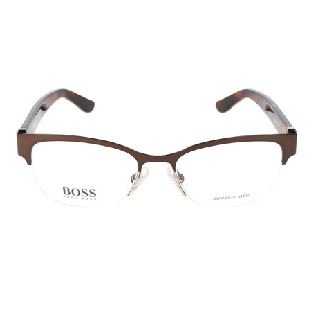 Women's 718-HNQ Optical Frames // Matte Brown + Light Gold + Dark Havana