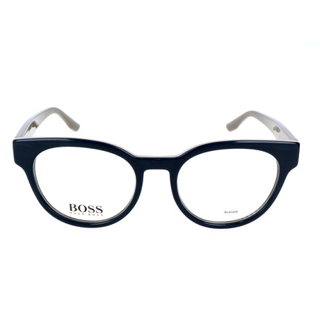 Women's 889-0U1 Optical Frames // Navy + Peach + Olive