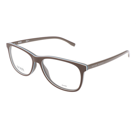 Men's 763-QHK Optical Frames // Brown + Beige + Shaded Brown