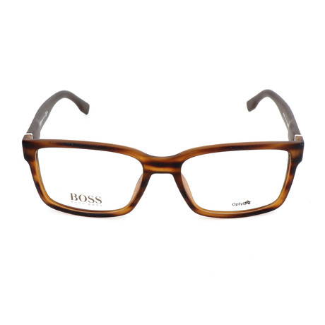 Men's 831-2Q7 Optical Frames // Brown + Horn