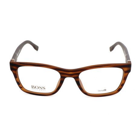 Men's 832-2Q7 Optical Frames // Brown Horn