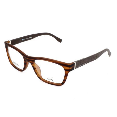 Men's 832-2Q7 Optical Frames // Brown + Horn