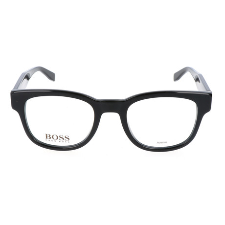 Men's 738-K8X Optical Frames // Black + Dark Gray + Leather Black