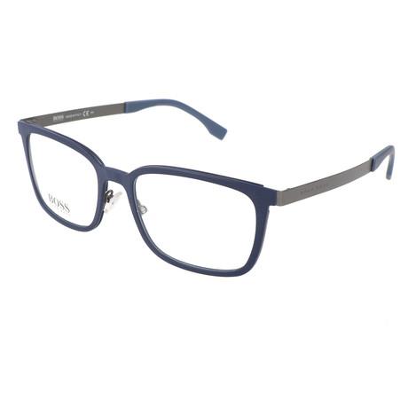 Men's 725-KDN Optical Frames // Solid Blue Ruthenium