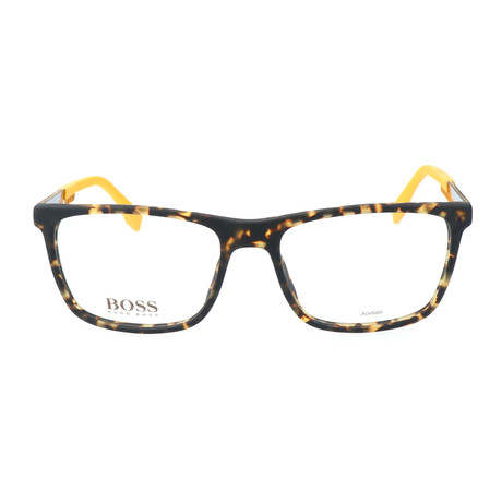Men's 733-KD3 Optical Frames // Havana Spotted + Carbon Yellow