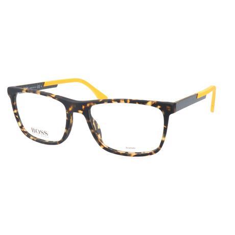 Men's 733-KD3 Optical Frames // Havana Spotted + Carbon Yellow