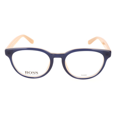 Women's 0759F-KIQ Optical Frames // Blue + Nude