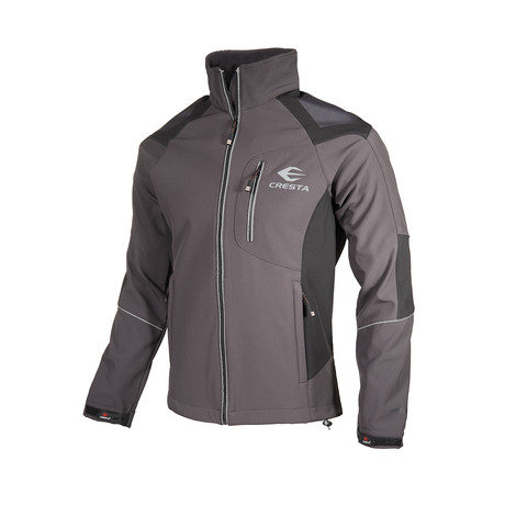 Two-Tone Chest Zip Jacket // Anthracite (XS)