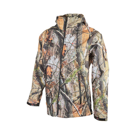 Camo Hooded Zip Jacket // Tree Camo (XS)