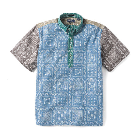 Orig Lahaina Short Sleeve Button-Up // Brushed Nickle (XS)