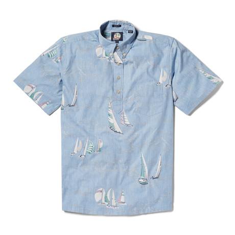 Tradewinds Regatta Short Sleeve Button-Up // Denim (XS)