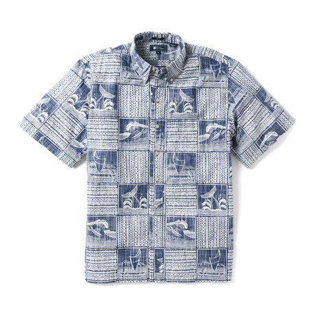 Ocean's Playground Button Front // Twilight Blue (XS)