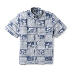 Ocean's Playground Button Front // Twilight Blue (XL)