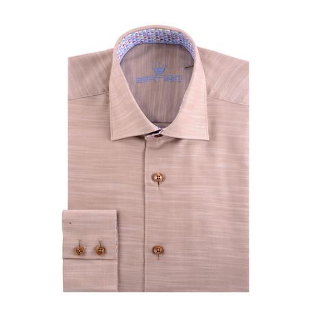 Dobby Long Sleeve Shirt // Cream (S)