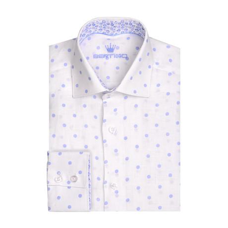 Linen Dotted Short Sleeve Shirt // White (XS)