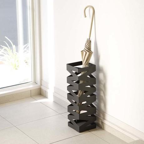 Rock // Umbrella Stand // Black