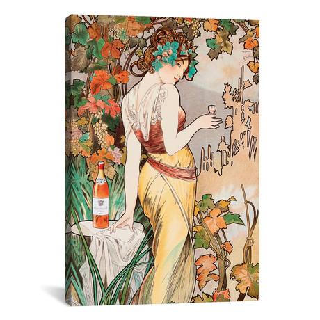 "Cognac // Alphonse Mucha (12""W x 18""H x 0.75""D)"