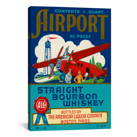 "Airport Bourbon Whiskey // Print Collection (12""W x 18""H x 0.75""D)"