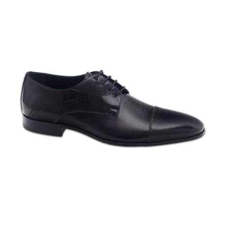 Achille Dress Shoes // Black + Black Croco (Euro: 39)