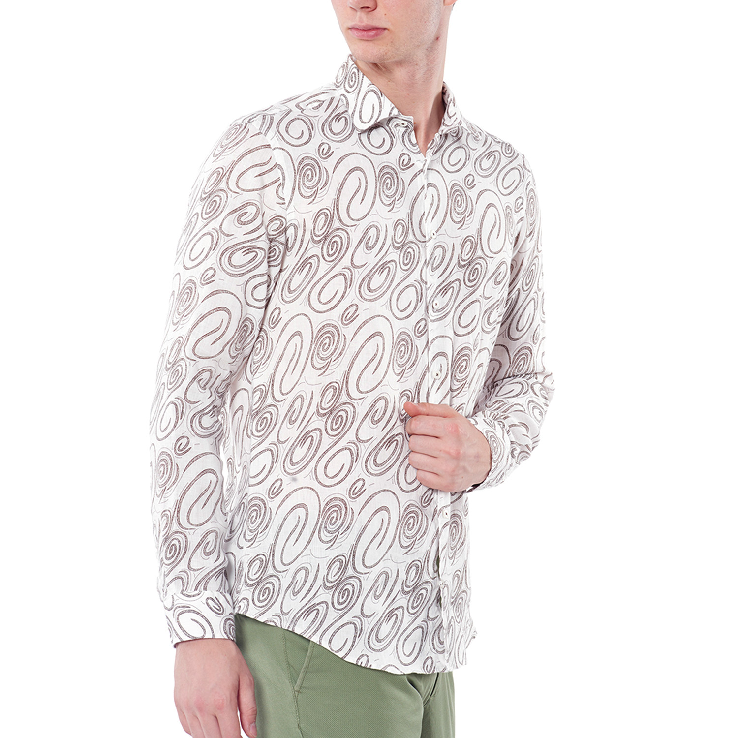 3b06afa974c3 Patterned Slim Fit Shirt // Brown (36) - Dufy - Touch of Modern