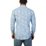 Fibonacci Giraffe Dress Shirt // Blue (M)