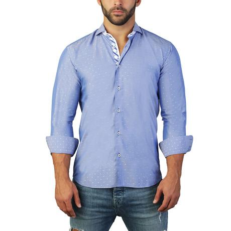 Einstein Dot Dress Shirt // Blue (S)