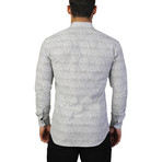 Fibonacci Skull Dress Shirt // Gray (XL)