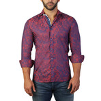 Einstein Armee Dress Shirt // Red (L)