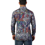 Fibonacci Picasso Dress Shirt // Multicolor (M)
