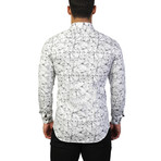 Fibonacci Crackle Dress Shirt // White (XL)