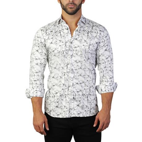 Fibonacci Crackle Dress Shirt // White (S)