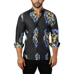 Fibonacci Lion EDC Dress Shirt // Multicolor (XL)