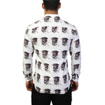 Fibonacci Skull America Dress Shirt // Multicolor (L)