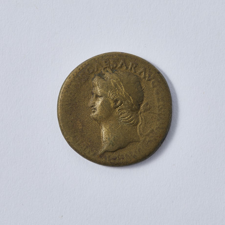 Large Brass Coin Of Roman Emperor Nero