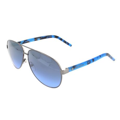 Unisex 71-S U60-I5 Sunglasses // Dark Gray + Blue Havana