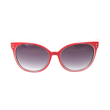 Love Moschino // Women's MO68103S 03S Sunglasses // Red + White