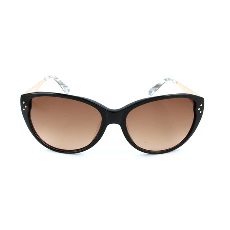 M Missoni // Women's MM563 S06SA Sunglasses // Black + Gold