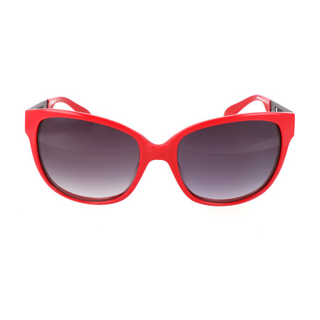 Love Moschino // Women's MO80203 3 Sunglasses // Red + Black