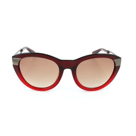 M Missoni // Women's MM572 S06SA Sunglasses // Red + Gunmetal
