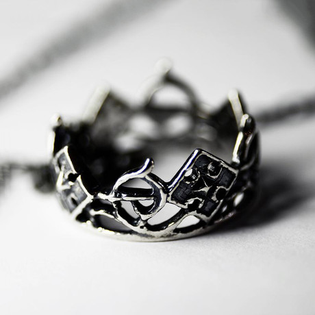 Crown Pendant // Silver