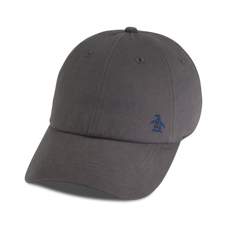 Twill Logo Baseball Cap // Charcoal