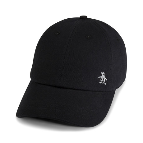 Twill Logo Baseball Cap // Black