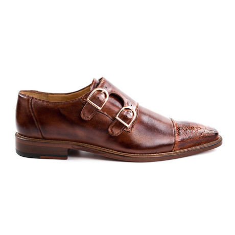 Amico Dress Shoes // Brandy + Antique Brown (US: 8)